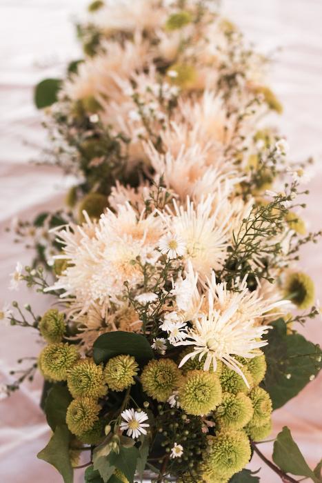 5# Decoração com flores naturais