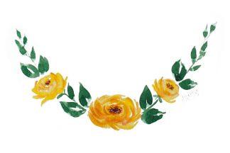 Extras: Meia Guirlanda Floral
