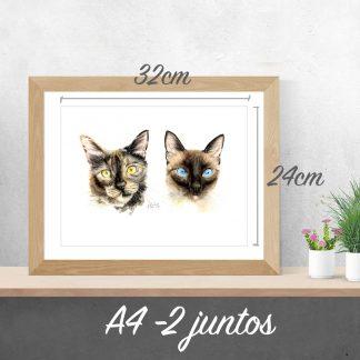 Aquarela do seu Pet - A4 2 Juntos
