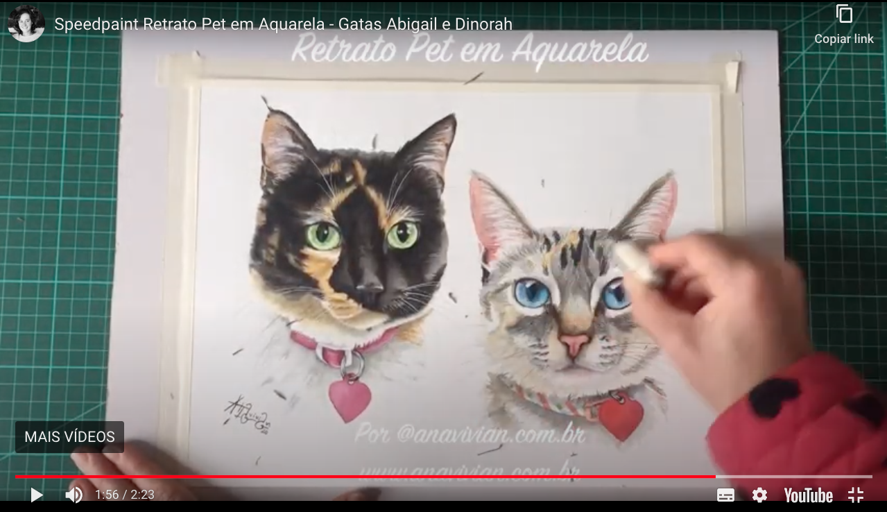 Vídeo: Speedpaint das gatas Abigail e Dinorah
