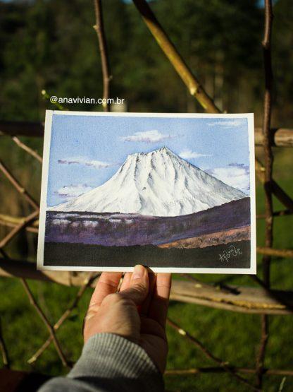 Estudos de paisagens nevadas em aquarela