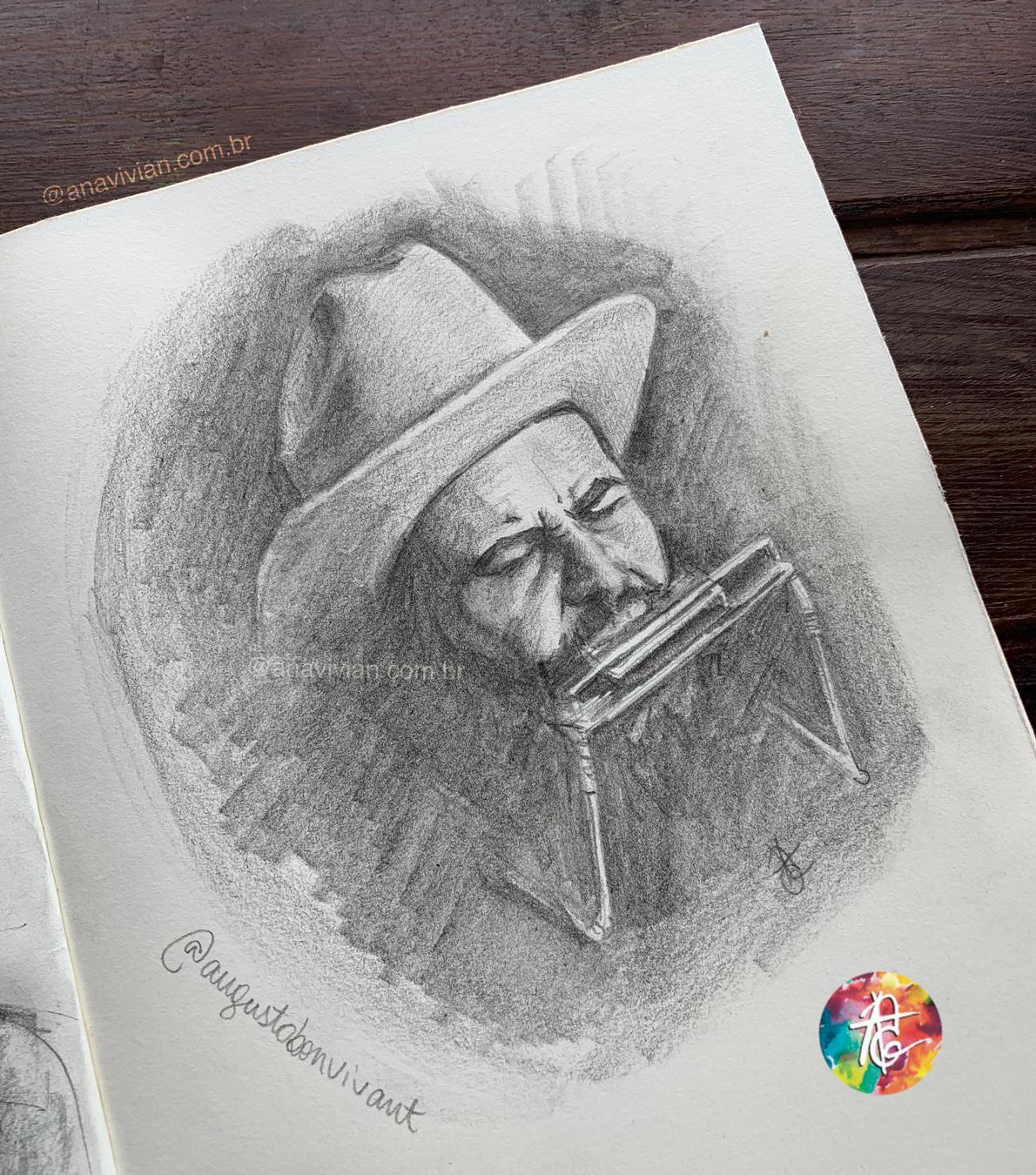 Sketchbook: Retrato do Augusto Bonvivant