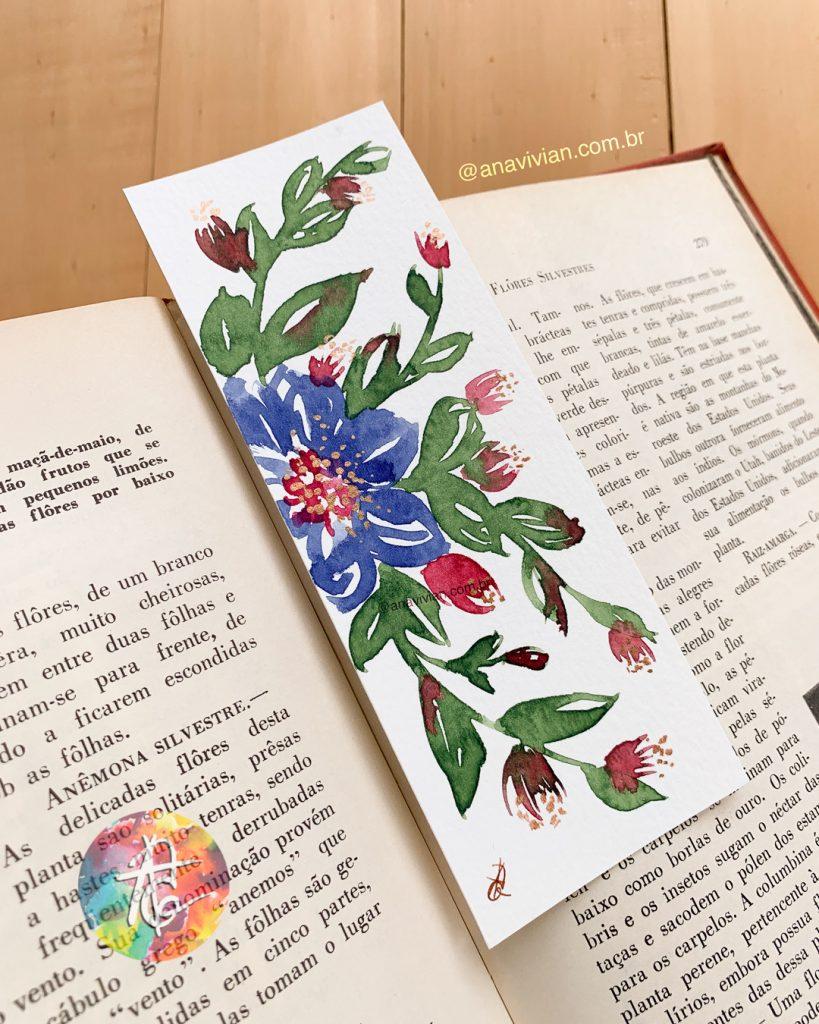 Marcadores de Páginas em aquarela