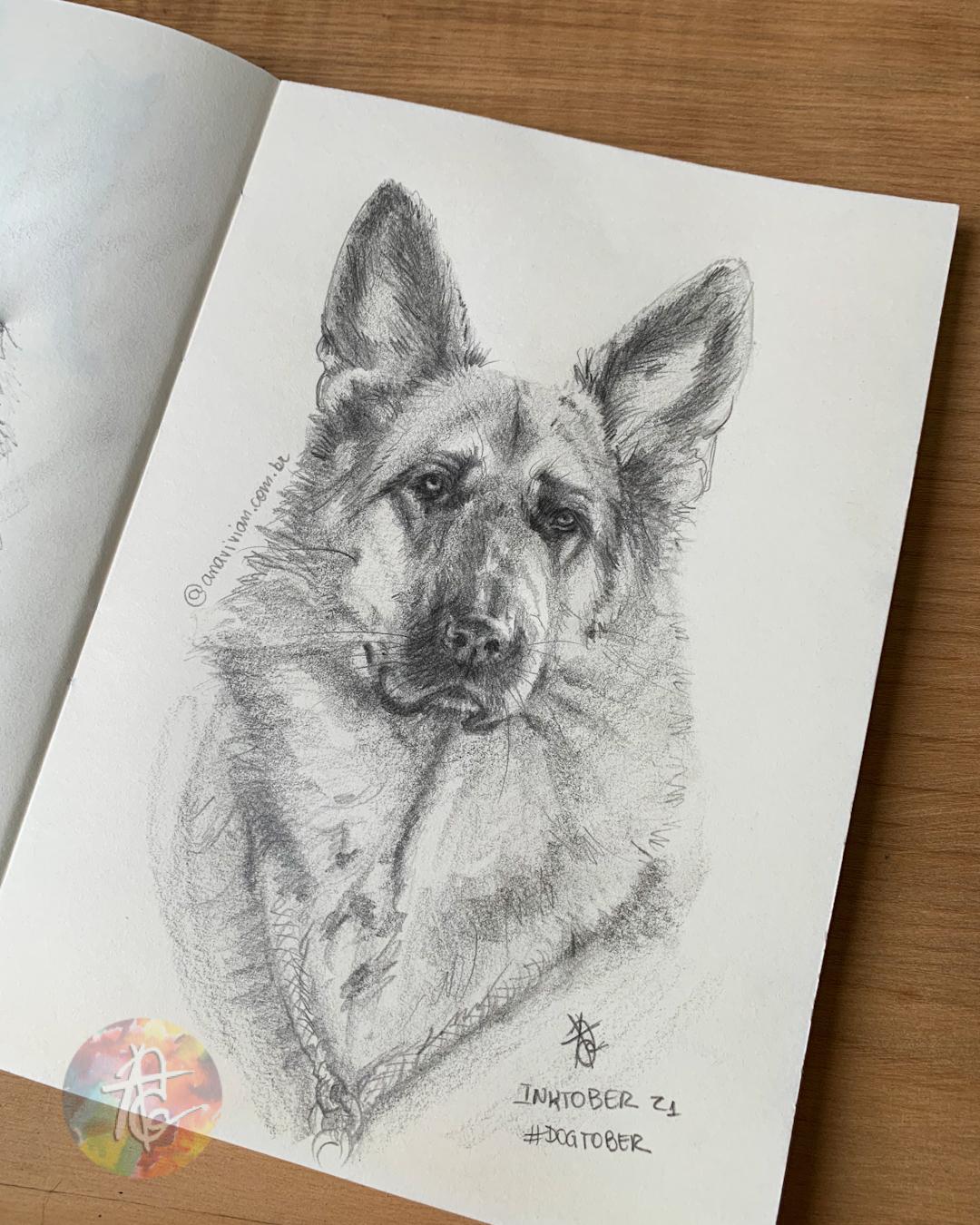 Desafio de desenho: Inktober/Dogtober 2021